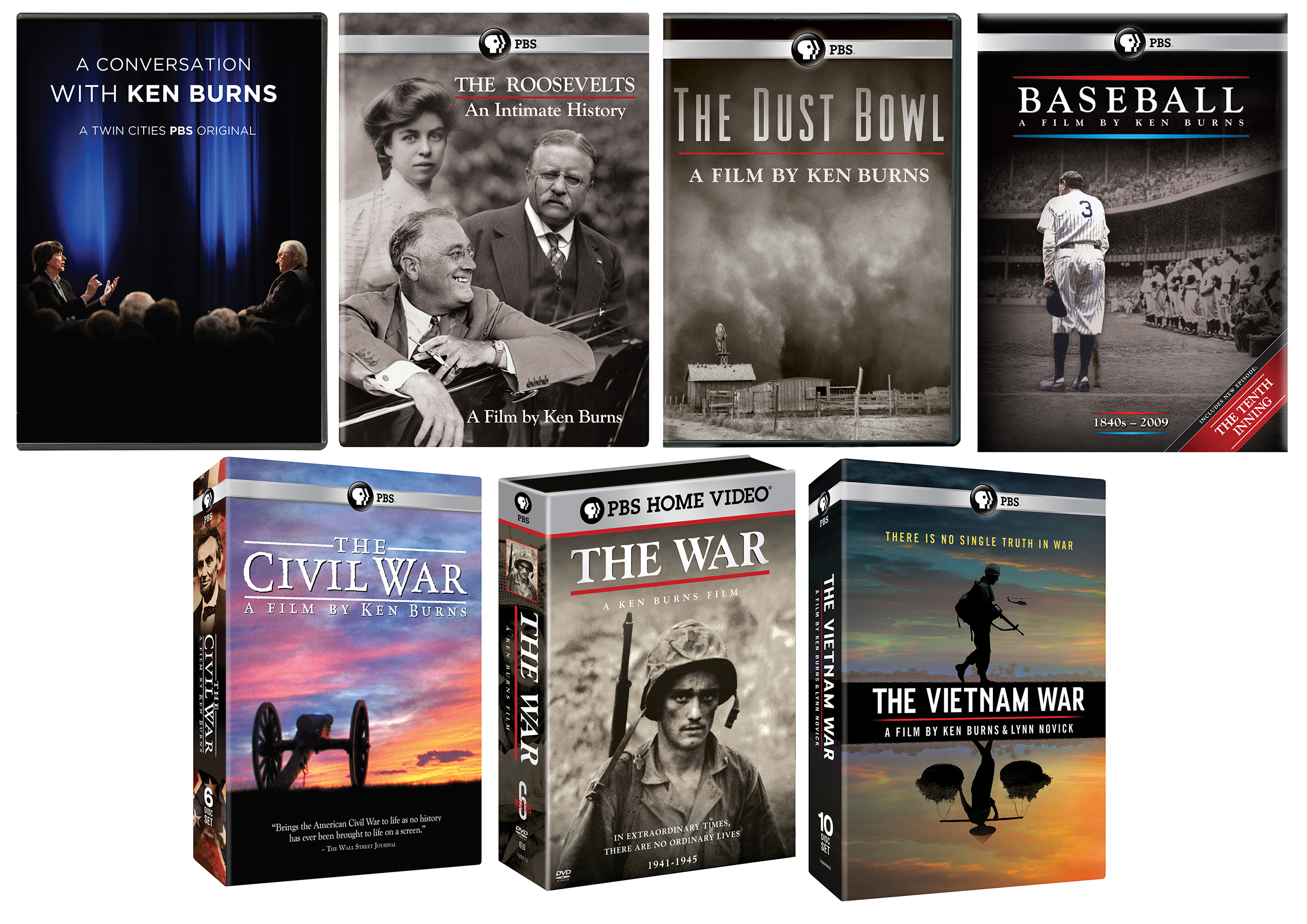 e35086a23 A Conversation with Ken Burns Combo  DVD + 42 DVDs