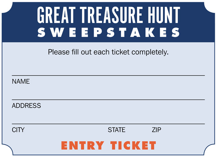 Entry Ticket for the 2019 WTTW Great Treasure Hunt